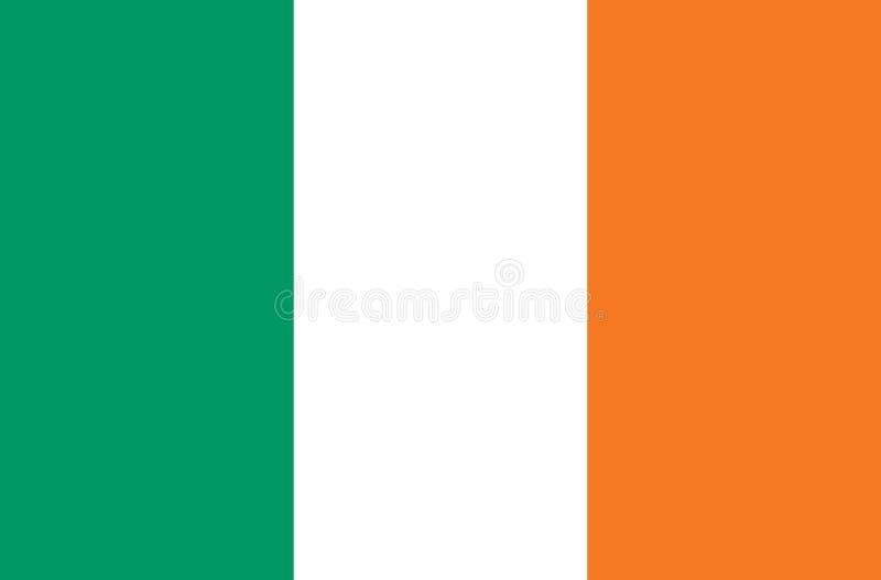 Irlandia flaga guzik flaga Ireland Symbol dzień niepodległości, pamiątkarski mecz piłkarski, guzika język, ikona ilustracja wektor