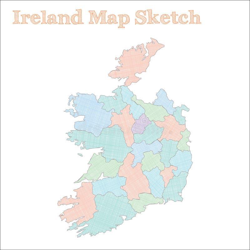 Irlandia mapa ilustracji