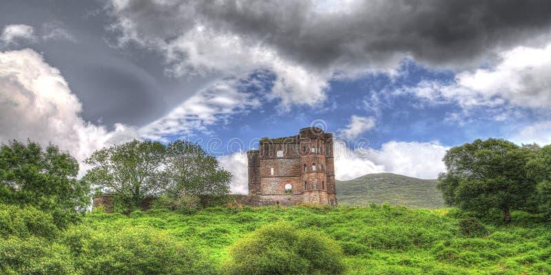 Irlandia, ruiny zbliża Dingle, okręg administracyjny Kerry obraz royalty free