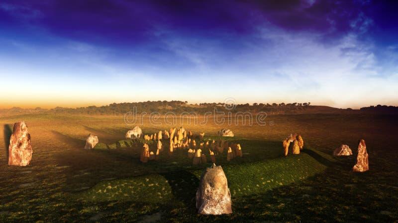 Irlandia Stonehenge royalty ilustracja