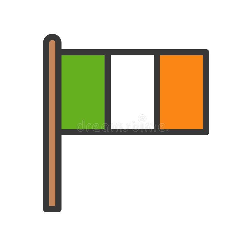 Irlandia zaznacza wektor, uczta Świątobliwy Patrick wypełniający ikona editable kontur ilustracji
