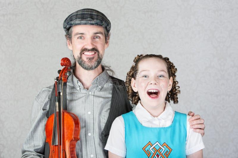 Irlandzcy śpiewacy ludowi zdjęcia stock