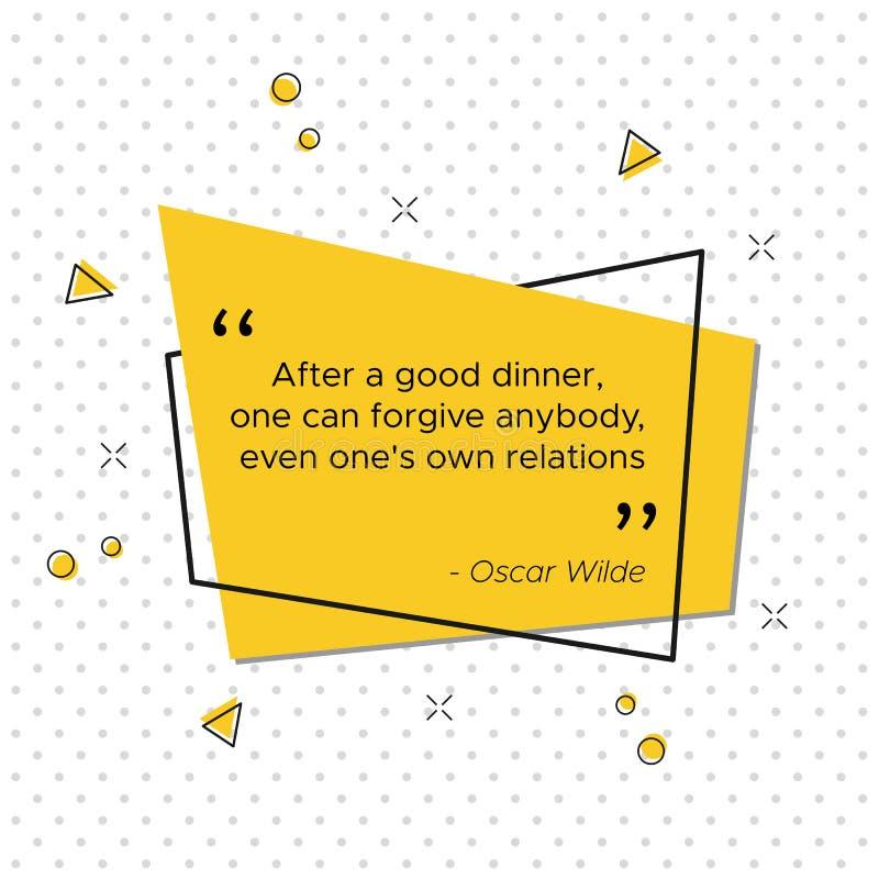 Irlandzka poeta Oscar Wilde wycena dla dziękczynienie dnia royalty ilustracja