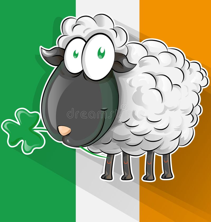 Irlandzka shepp kreskówka royalty ilustracja