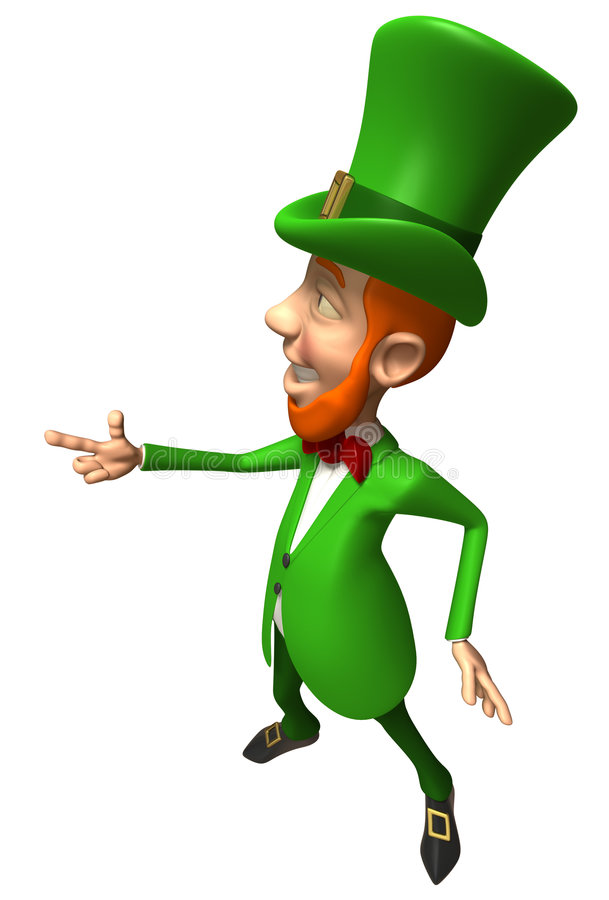 irlandzki leprechaun ilustracja wektor