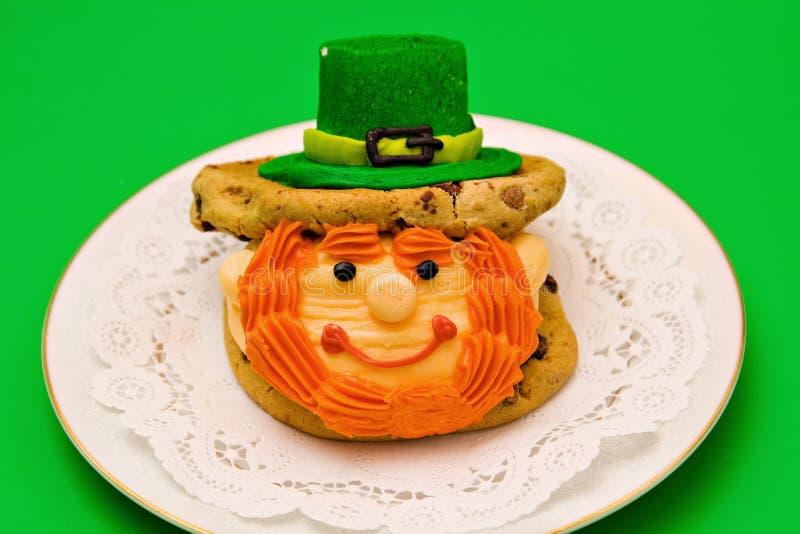irlandzki leprechaun deser fotografia stock