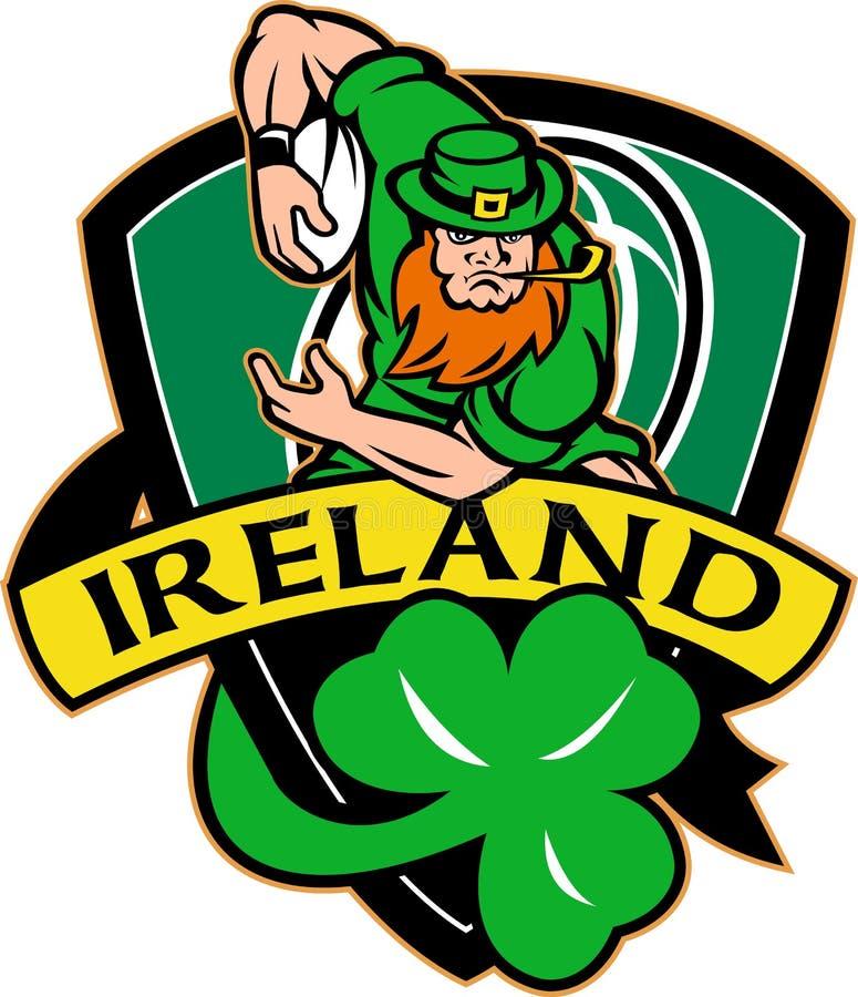 irlandzki leprechaun gracza rugby ilustracji