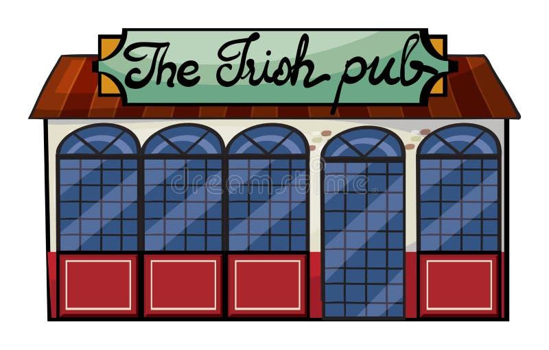 Irlandzki pub royalty ilustracja