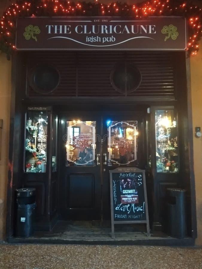 Irlandzki pub w Bolonii obraz royalty free