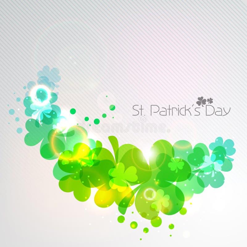 Irlandzki shamrock opuszcza tło dla Szczęśliwego St. Patrick dnia. EP ilustracja wektor