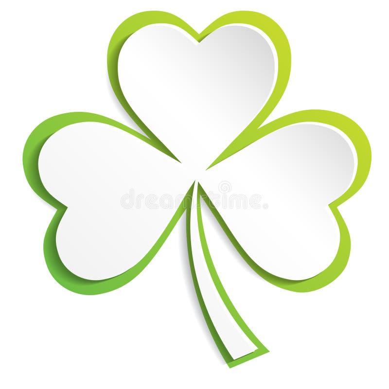 Irlandzki shamrock opuszcza tło dla Szczęśliwego St Patrick ` s dnia 10 eps royalty ilustracja
