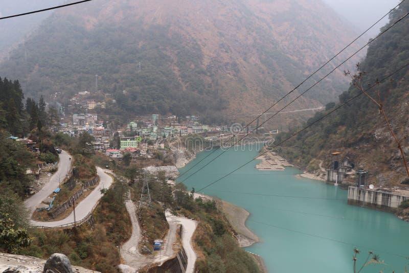 Irmã norte natural india do leste sete de Gangtok Sikkim da beleza foto de stock