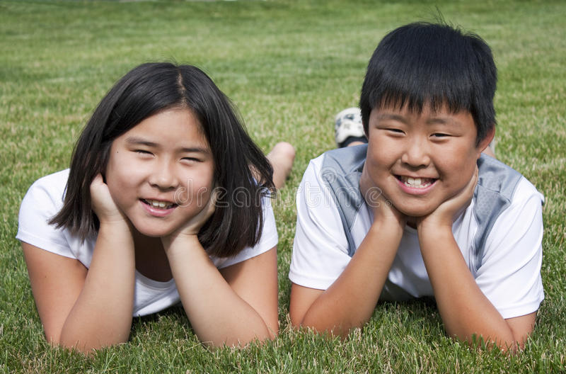 Irmão e irmã fotos de stock royalty free
