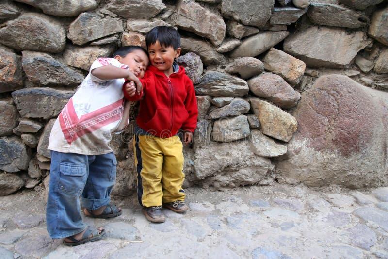 Irmãos peruanos imagens de stock