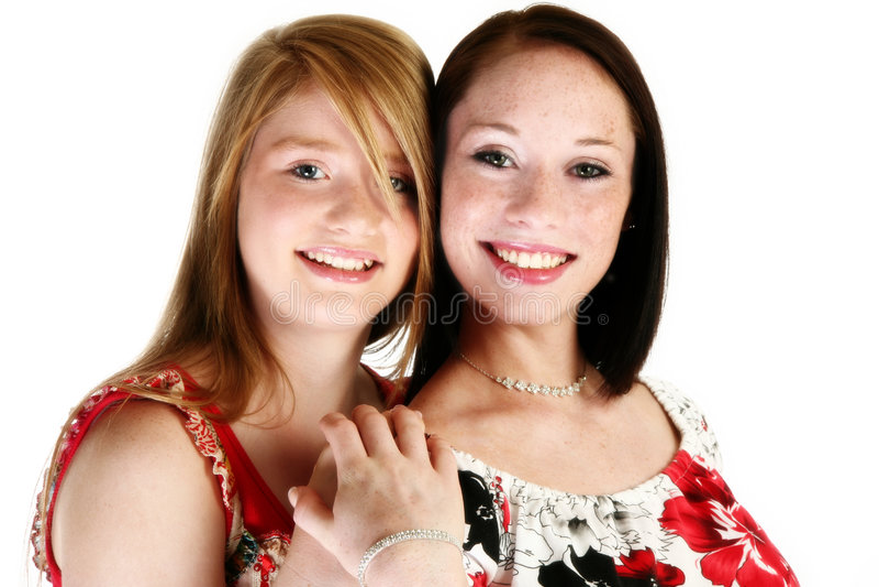 Irmãs adolescentes bonitas foto de stock