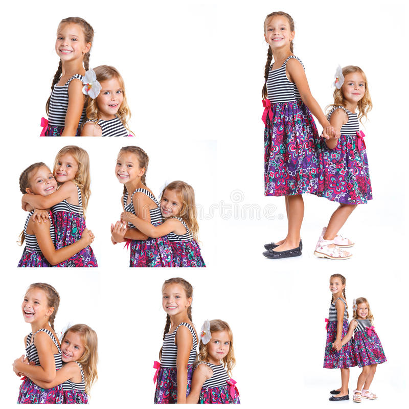 Irmãs felizes foto de stock