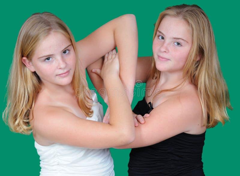 Irmãs gêmeas imagem de stock