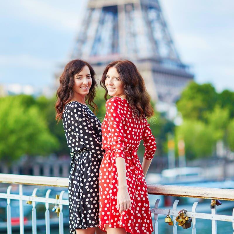 Download Irmãs Gêmeas Bonitas Em Paris, França Foto de Stock - Imagem de architectural, europa: 65575794