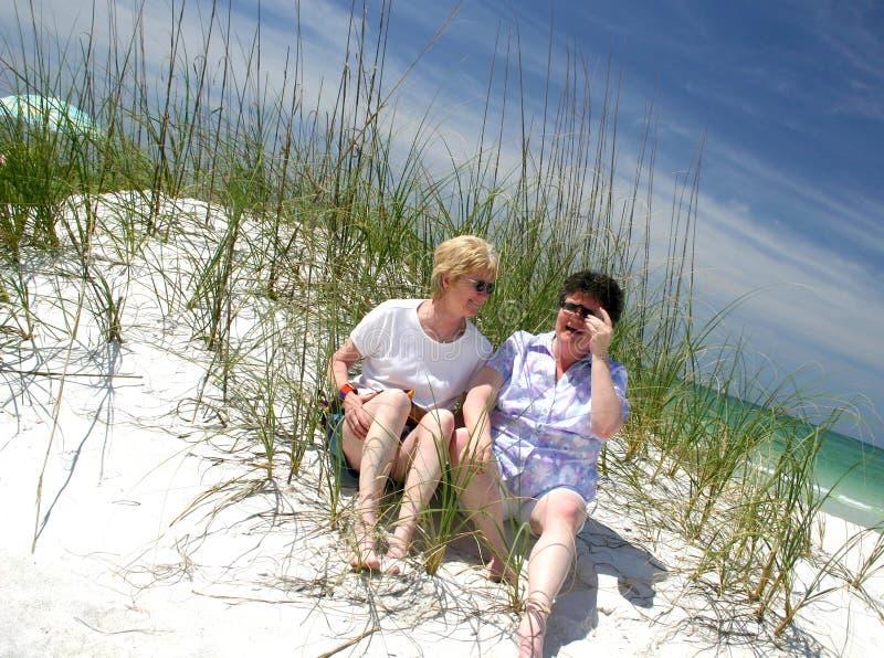 Download Irmãs na praia imagem de stock. Imagem de florida, areia - 112683