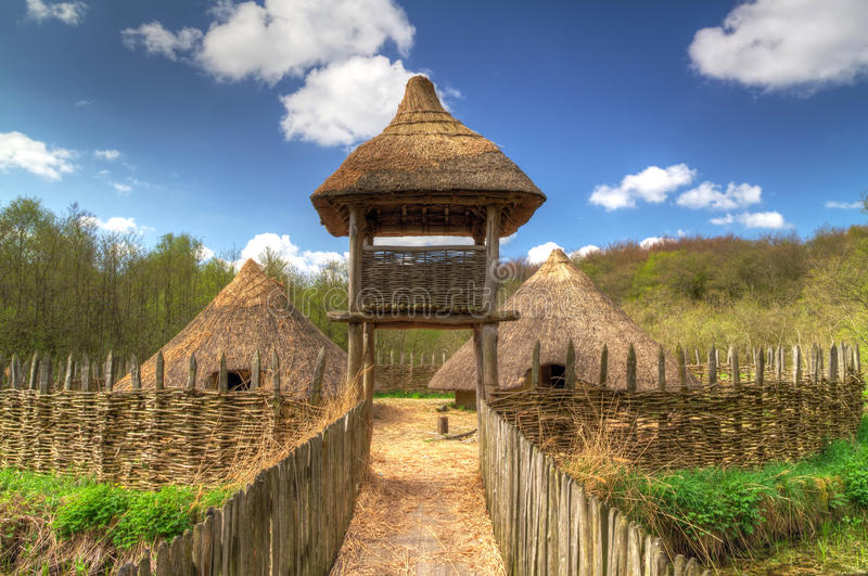 Download Iron age settlement stock image. Image of architecture - 19276215