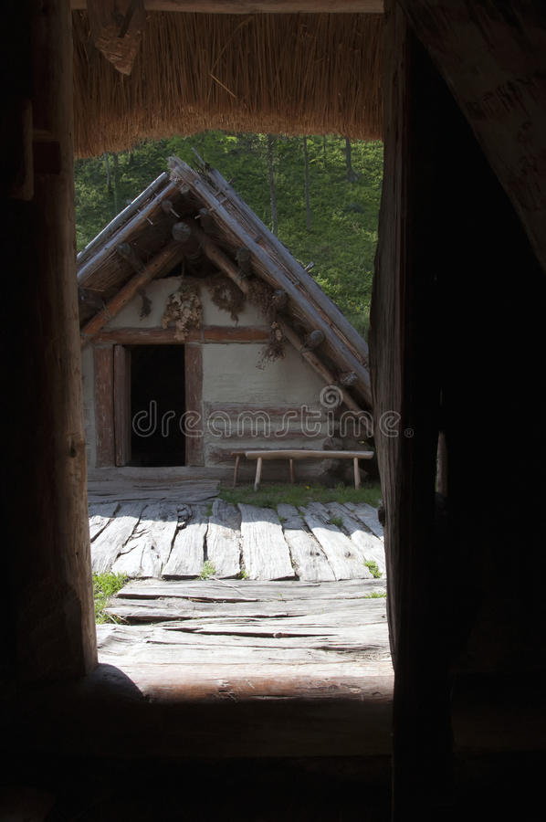Iron age settlement royalty free stock images