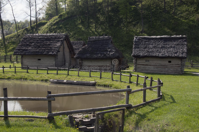 Iron age settlement royalty free stock photo