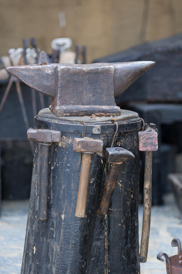 Iron anvil stock photography