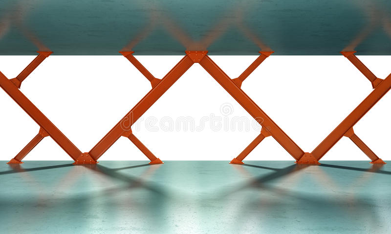 Download Iron Beams 3D Rendering Stock Image - Image: 26519971
