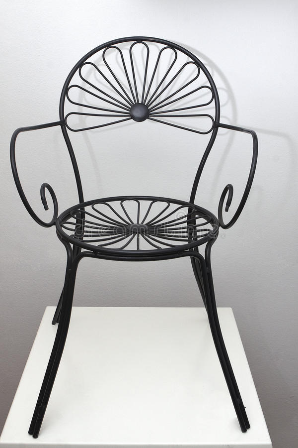 Download Iron Black Chair With Flower Design Stock Illustration - Illustration: 17411893