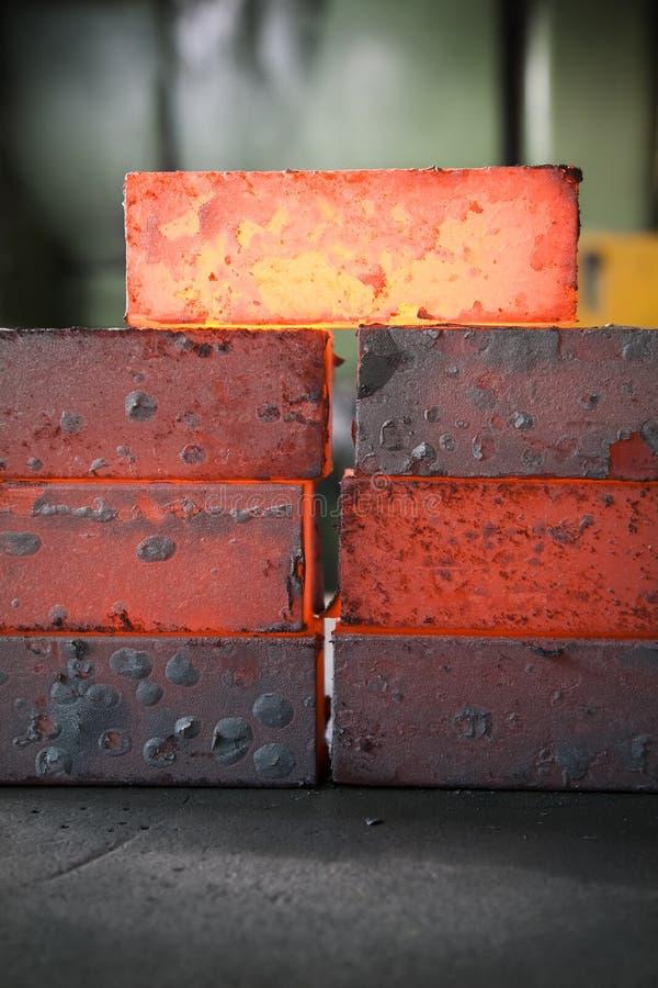 Iron blocks stock image