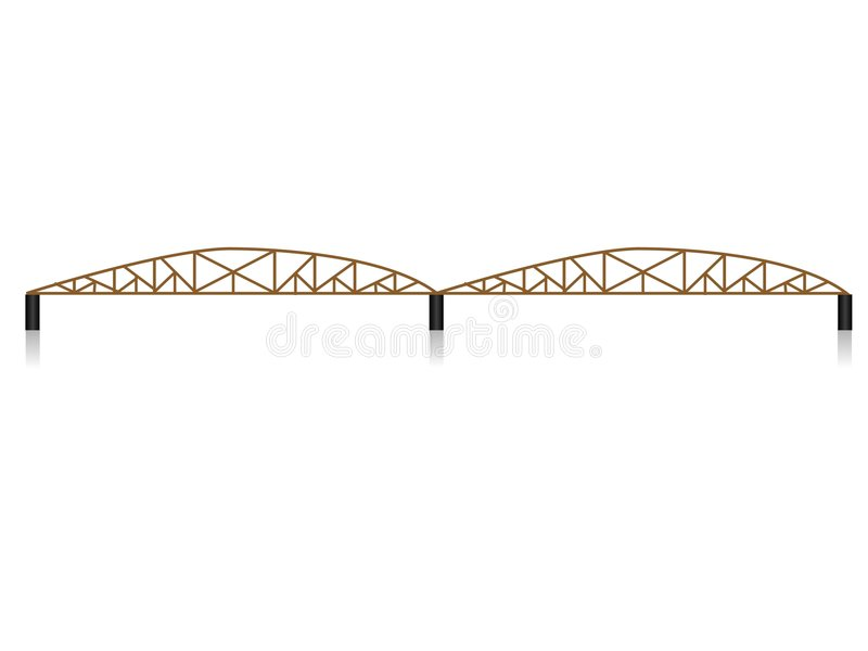 Download Iron bridge stock illustration. Image of metal, pillar - 5454390