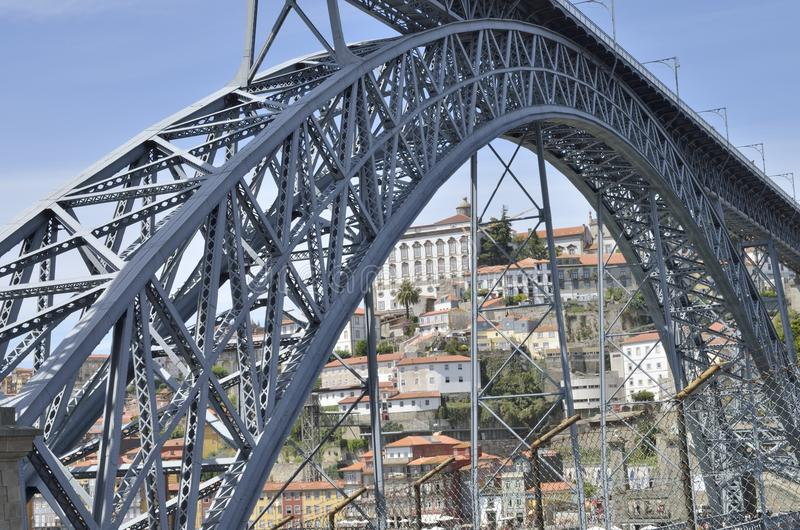 Iron bridge Porto royalty free stock photography