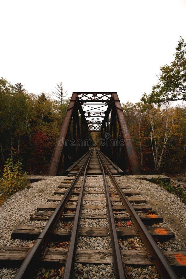 Iron bridge & train rail royalty free stock image
