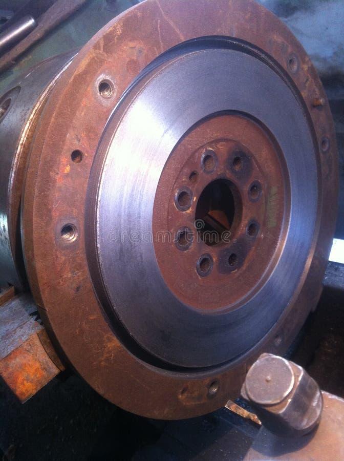 Iron car flywheel stock photography