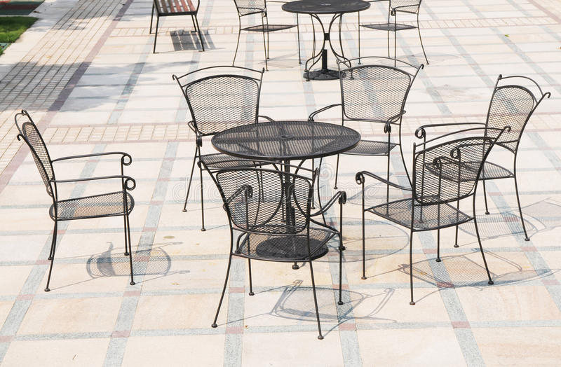 The Iron Chairs And Tables Stock Photos