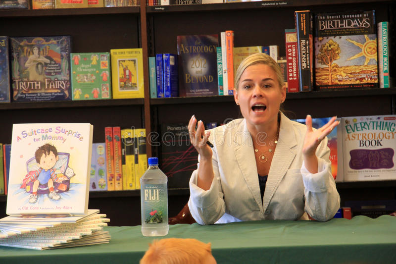 Iron Chef Cat Cora Book Signing royalty free stock photos