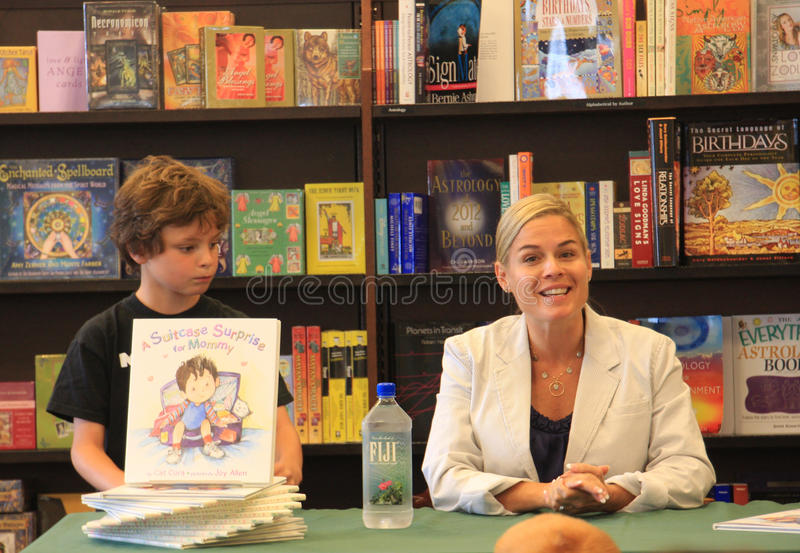 Iron Chef Cat Cora Book Signing stock photography