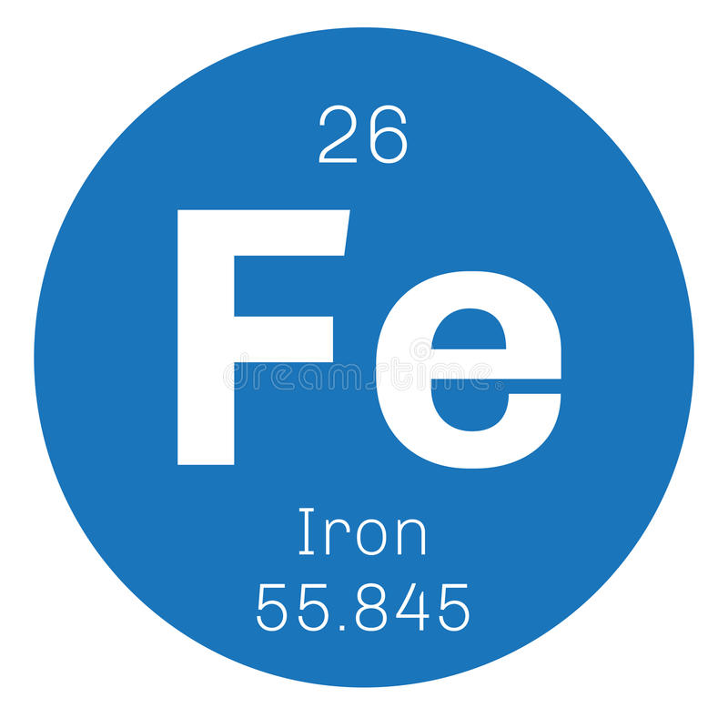 Iron chemical element royalty free illustration