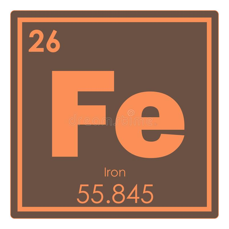 Iron Chemical Element Stock Illustration Illustration Of Geek