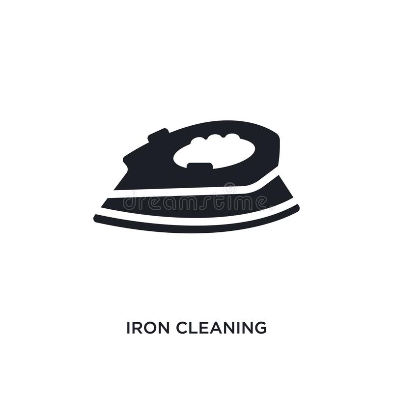 iron cleaning isolated icon. simple element illustration from cleaning concept icons. iron cleaning editable logo sign symbol stock illustration