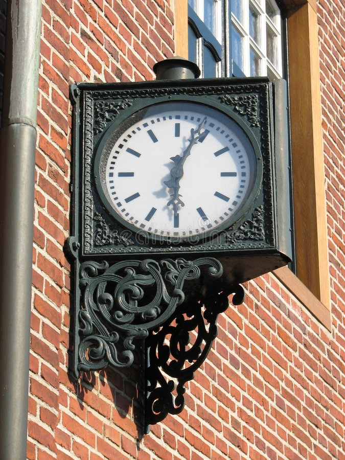 Download Iron clock stock image. Image of minutes, cast, window - 1223533