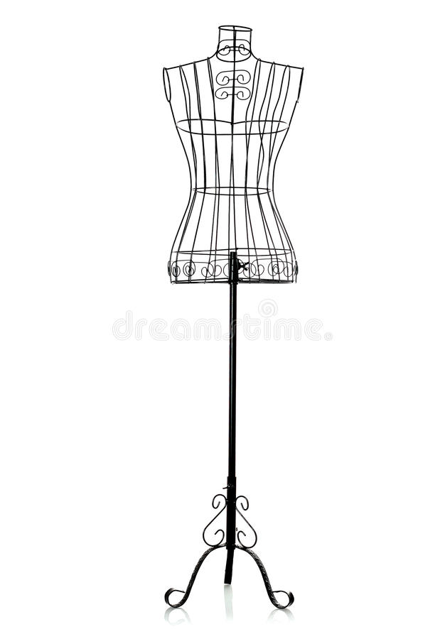 Iron clothes hanger. This is a iron clothes hanger with white background royalty free stock image