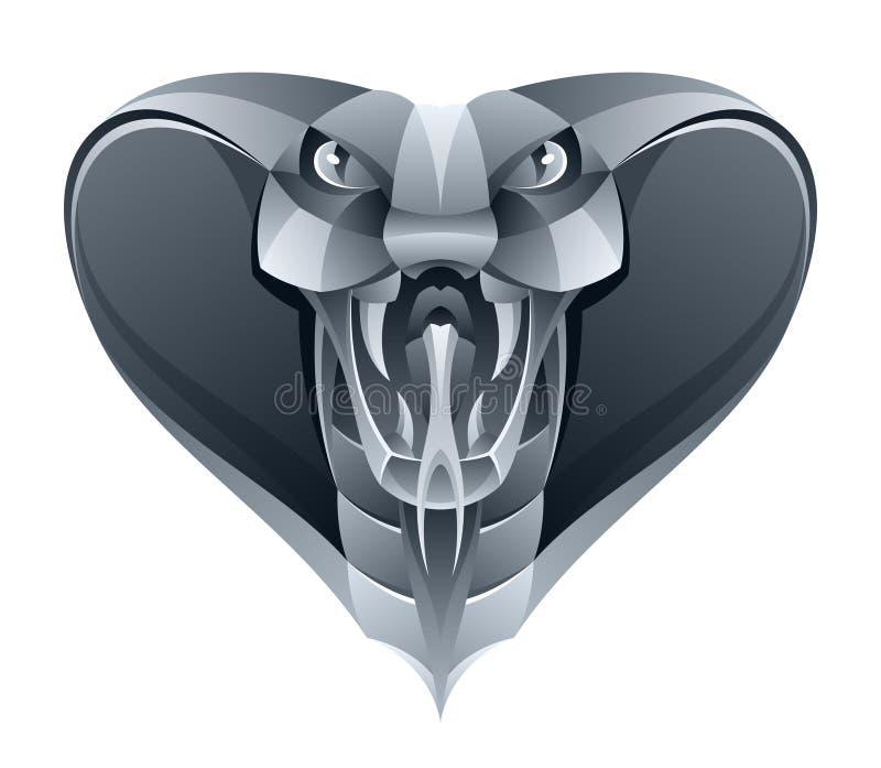 Iron cobra royalty free illustration