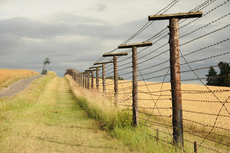 Iron curtain. Remains of iron curtain in south Moravia in the Czech Republic, symbol of the cold war royalty free stock photo