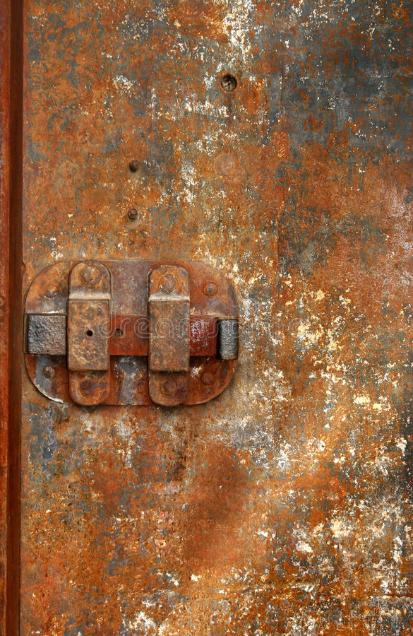 Iron Door 02 royalty free stock photos