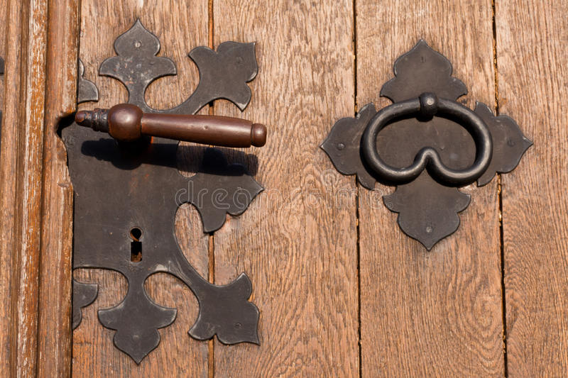 Download Iron door hardware stock photo. Image of entrance, ancient - 18693922