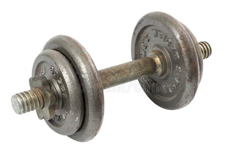 Iron dumbbell isolated stock image
