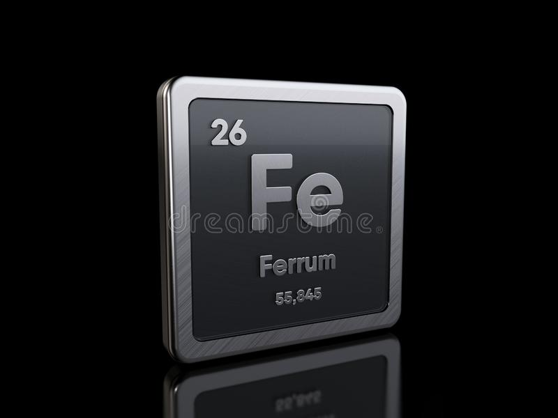Iron Fe, element symbol from periodic table series royalty free illustration