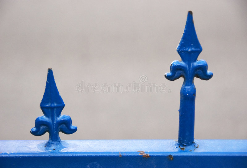 Iron fence. Detail of wrought iron fence stock photos