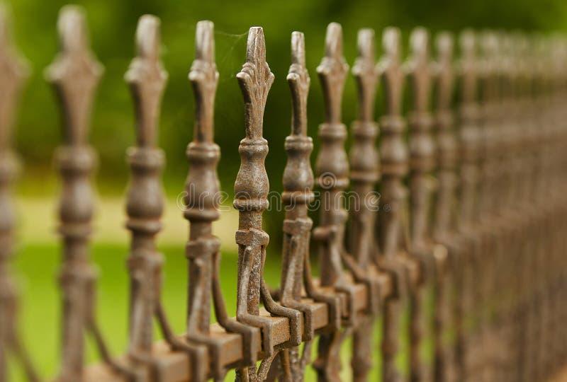 Iron Fence Finials royalty free stock photos